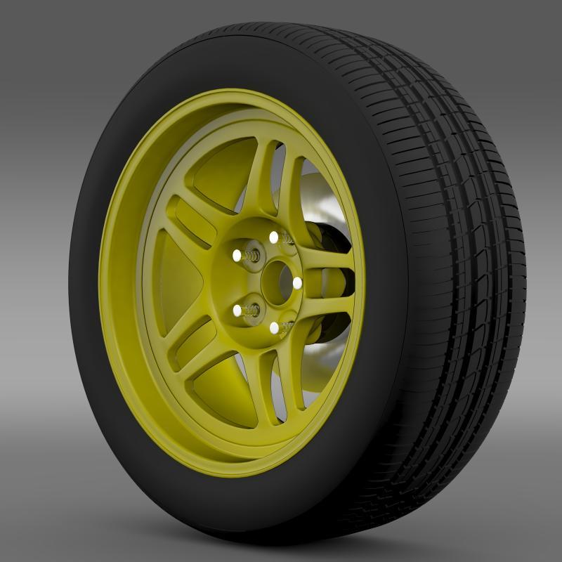 chevrolet camaro gs racecar 2008 wheel 3d model 3ds max fbx c4d lwo ma mb hrc xsi obj 140642