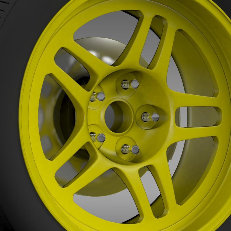 chevrolet camaro gs racecar 2008 wheel 3d model 3ds max fbx c4d lwo ma mb hrc xsi obj 140644