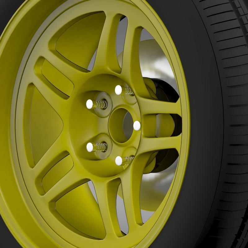 chevrolet camaro gs racecar 2008 wheel 3d model 3ds max fbx c4d lwo ma mb hrc xsi obj 140645