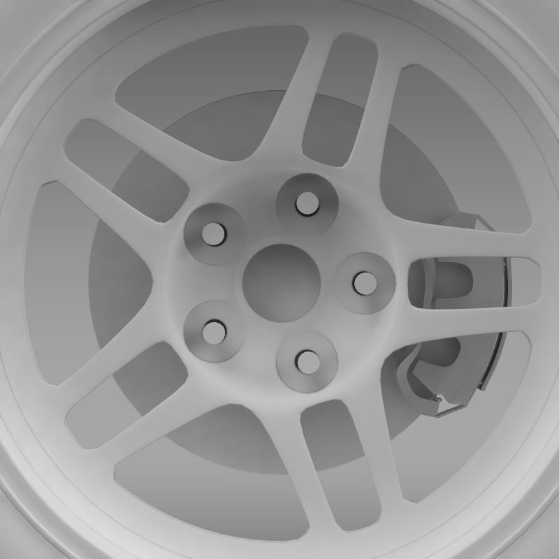 chevrolet camaro gs racecar 2008 wheel 3d model 3ds max fbx c4d lwo ma mb hrc xsi obj 140652