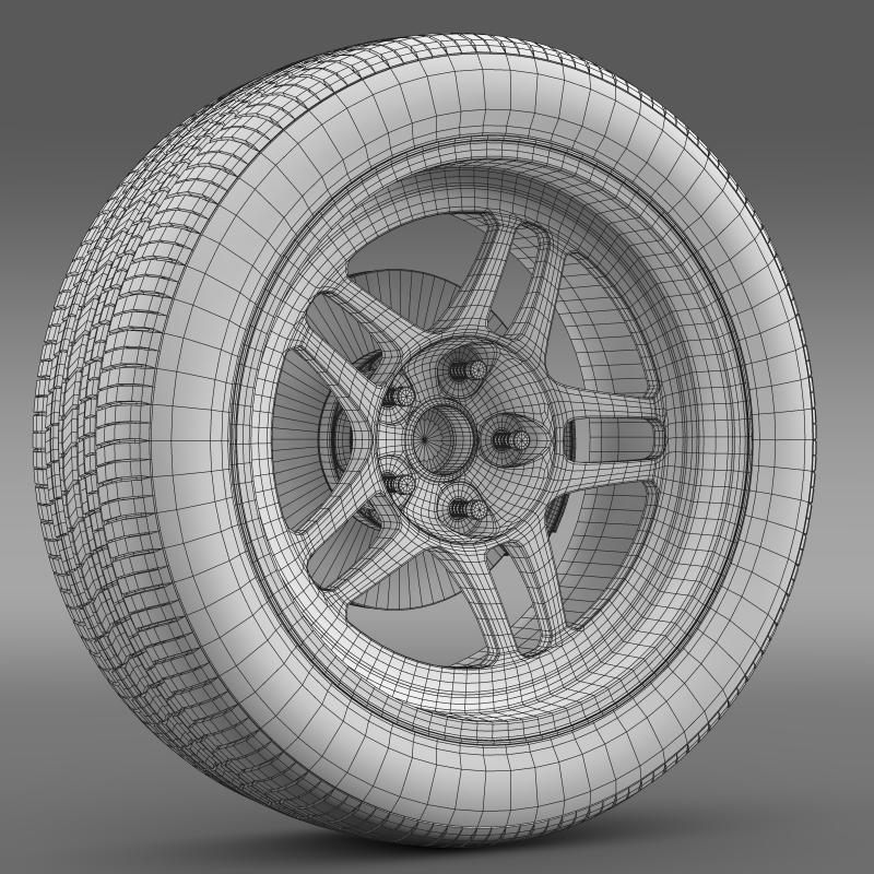 chevrolet camaro gs racecar 2008 wheel 3d model 3ds max fbx c4d lwo ma mb hrc xsi obj 140653