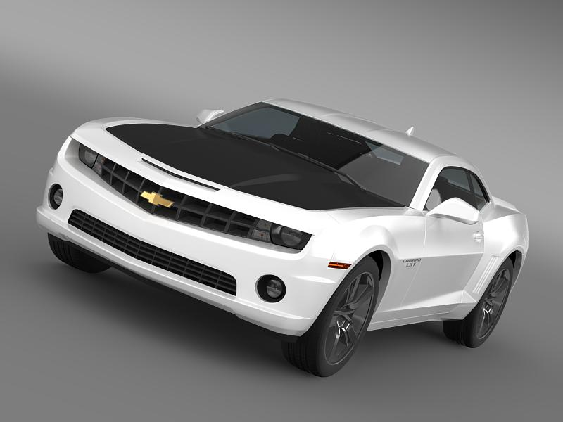 chevrolet camaro ls7 2008 3d model 3ds max fbx c4d