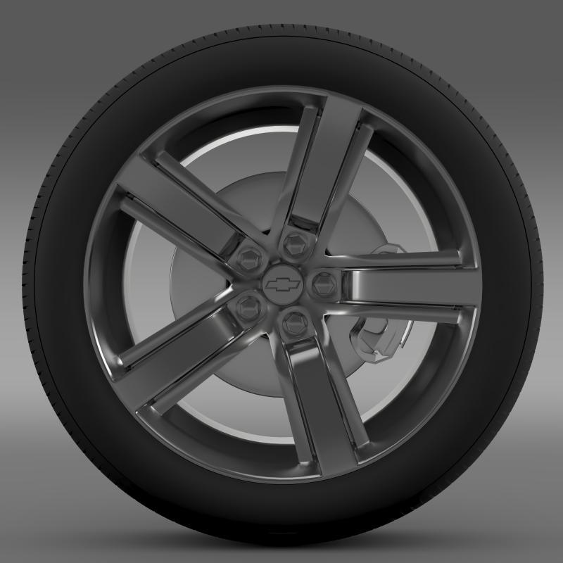 chevrolet camaro ls7 2008 wheel 3d model 3ds max fbx c4d lwo ma mb hrc xsi obj 141310