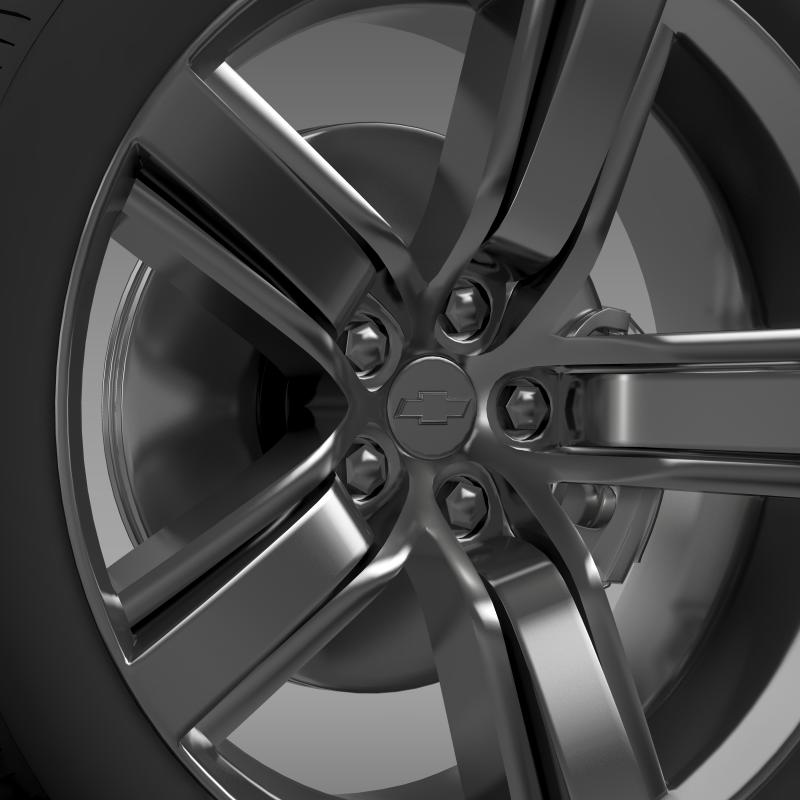 chevrolet camaro ls7 2008 wheel 3d model 3ds max fbx c4d lwo ma mb hrc xsi obj 141311