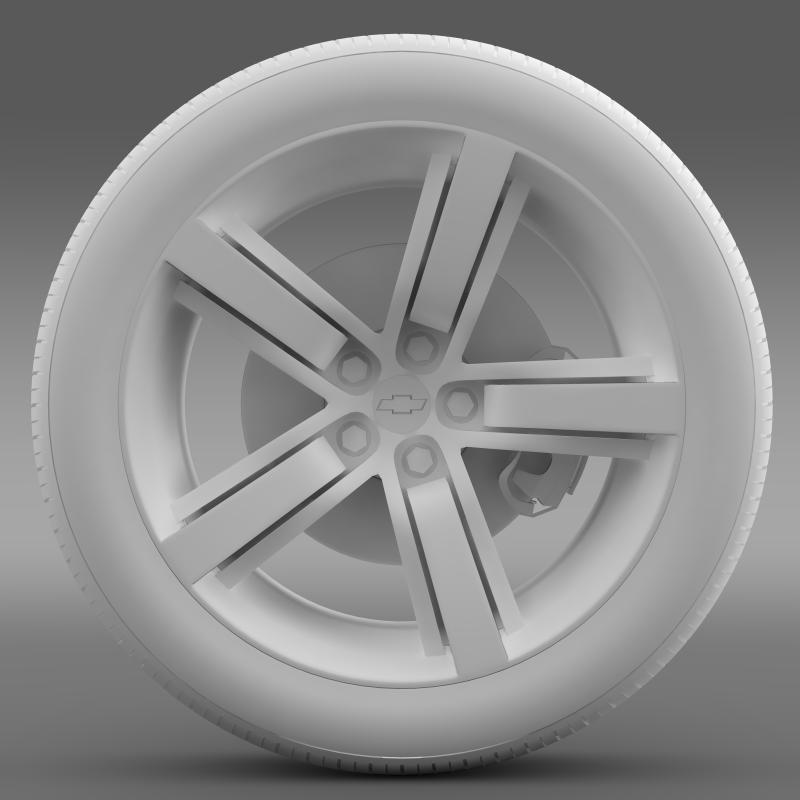 chevrolet camaro ls7 2008 wheel 3d model 3ds max fbx c4d lwo ma mb hrc xsi obj 141316