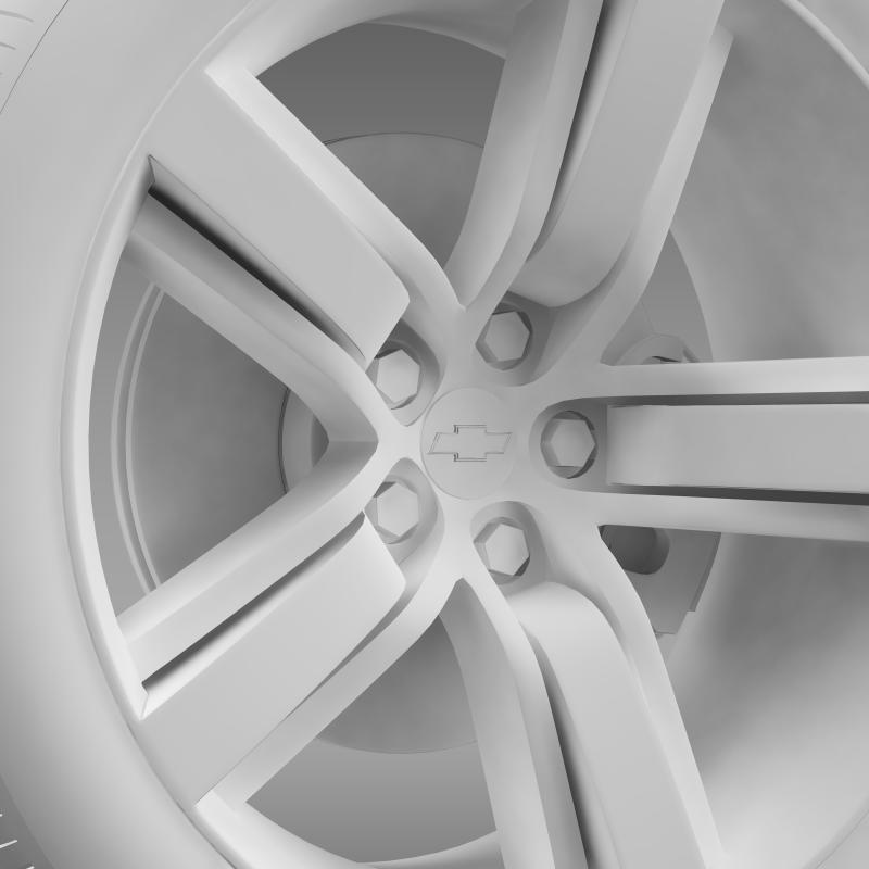 chevrolet camaro ls7 2008 wheel 3d model 3ds max fbx c4d lwo ma mb hrc xsi obj 141317