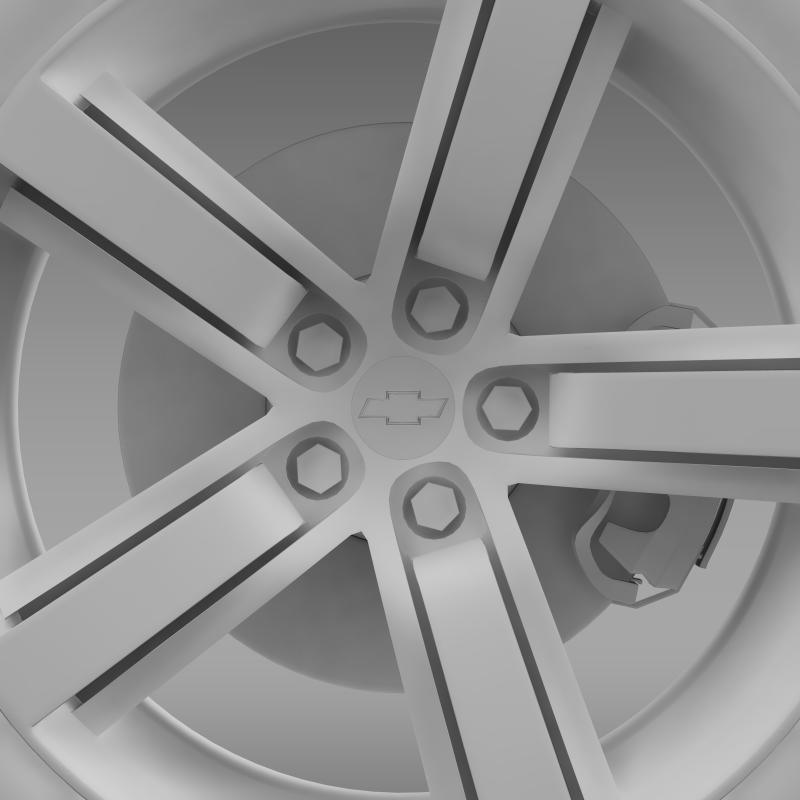 chevrolet camaro ls7 2008 wheel 3d model 3ds max fbx c4d lwo ma mb hrc xsi obj 141319