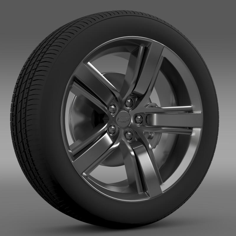 chevrolet camaro ls7 2008 wheel 3d model 3ds max fbx c4d lwo ma mb hrc xsi obj 141324