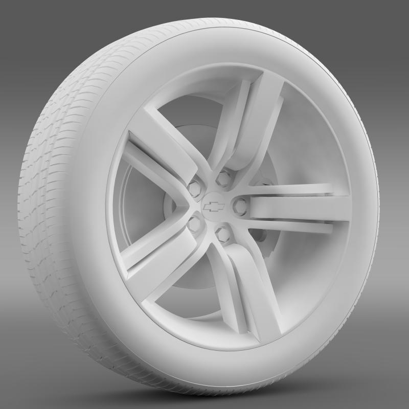 chevrolet camaro ls7 2008 wheel 3d model 3ds max fbx c4d lwo ma mb hrc xsi obj 141330