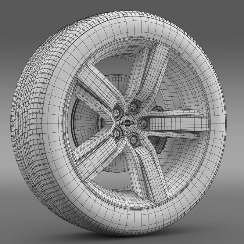 chevrolet camaro ls7 2008 wheel 3d model 3ds max fbx c4d lwo ma mb hrc xsi obj 141336