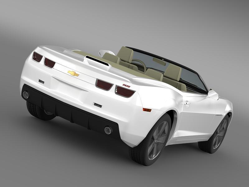 chevrolet camaro neimanmarcus convertible 2011 3d model 3ds max fbx c4d lwo ma mb hrc xsi obj 149069
