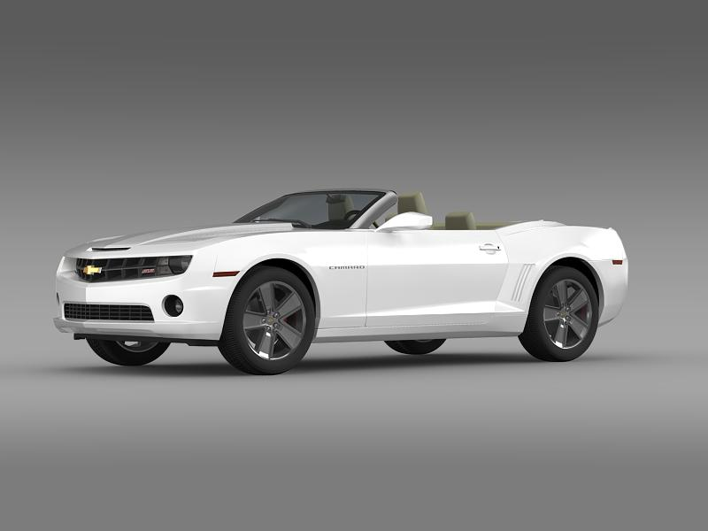 chevrolet camaro neimanmarcus convertible 2011 3d model 3ds max fbx c4d lwo ma mb hrc xsi obj 149072