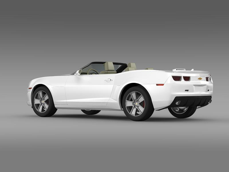 chevrolet camaro neimanmarcus convertible 2011 3d model 3ds max fbx c4d lwo ma mb hrc xsi obj 149074