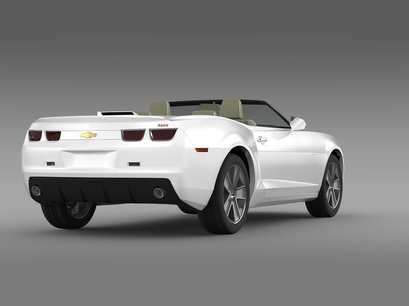 chevrolet camaro neimanmarcus convertible 2011 3d model 3ds max fbx c4d lwo ma mb hrc xsi obj 149077