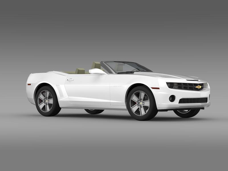 chevrolet camaro neimanmarcus convertible 2011 3d model 3ds max fbx c4d lwo ma mb hrc xsi obj 149080
