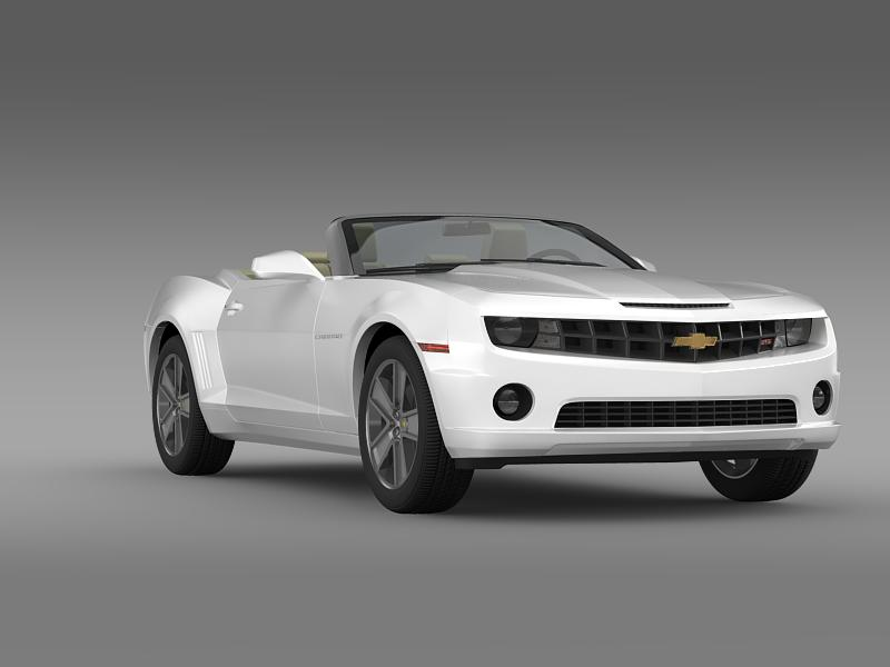 chevrolet camaro neimanmarcus convertible 2011 3d model 3ds max fbx c4d lwo ma mb hrc xsi obj 149081