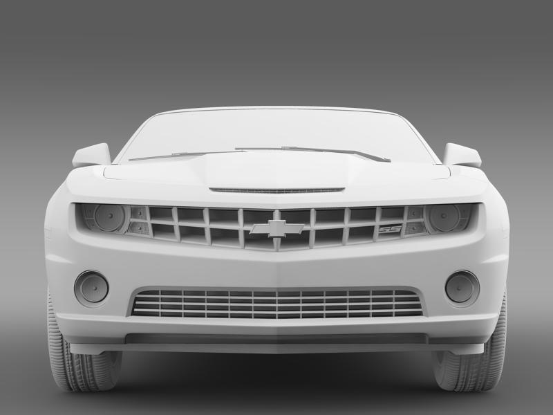 chevrolet camaro neimanmarcus convertible 2011 3d model 3ds max fbx c4d lwo ma mb hrc xsi obj 149082