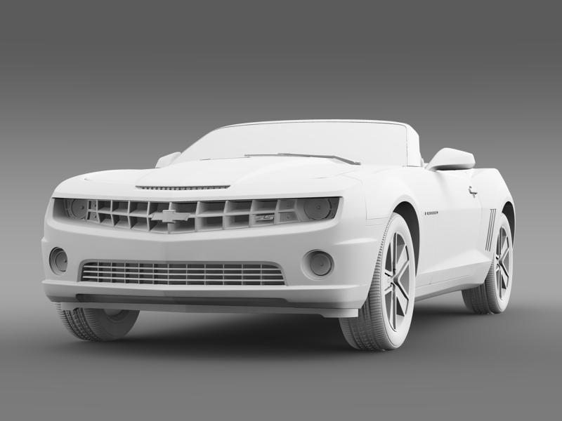chevrolet camaro neimanmarcus convertible 2011 3d model 3ds max fbx c4d lwo ma mb hrc xsi obj 149084