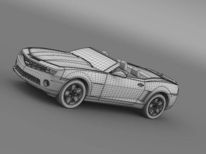 chevrolet camaro neimanmarcus convertible 2011 3d model 3ds max fbx c4d lwo ma mb hrc xsi obj 149086
