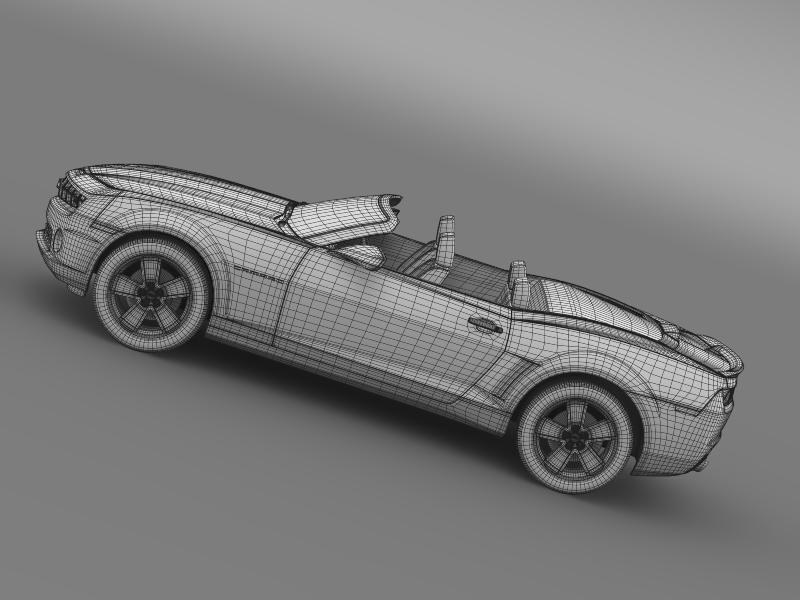 chevrolet camaro neimanmarcus convertible 2011 3d model 3ds max fbx c4d lwo ma mb hrc xsi obj 149087