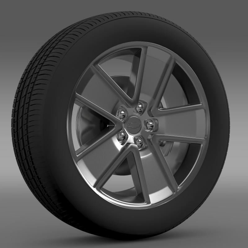 chevrolet camaro redflash 2010 wheel 3d model 3ds max fbx c4d lwo ma mb hrc xsi obj 141337