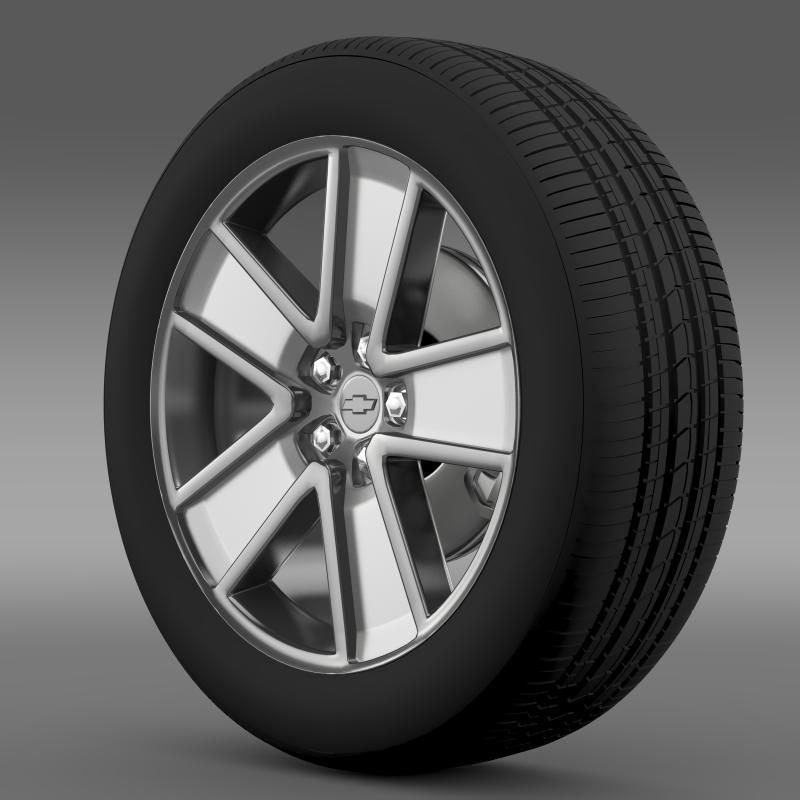 chevrolet camaro redflash 2010 wheel 3d model 3ds max fbx c4d lwo ma mb hrc xsi obj 141338