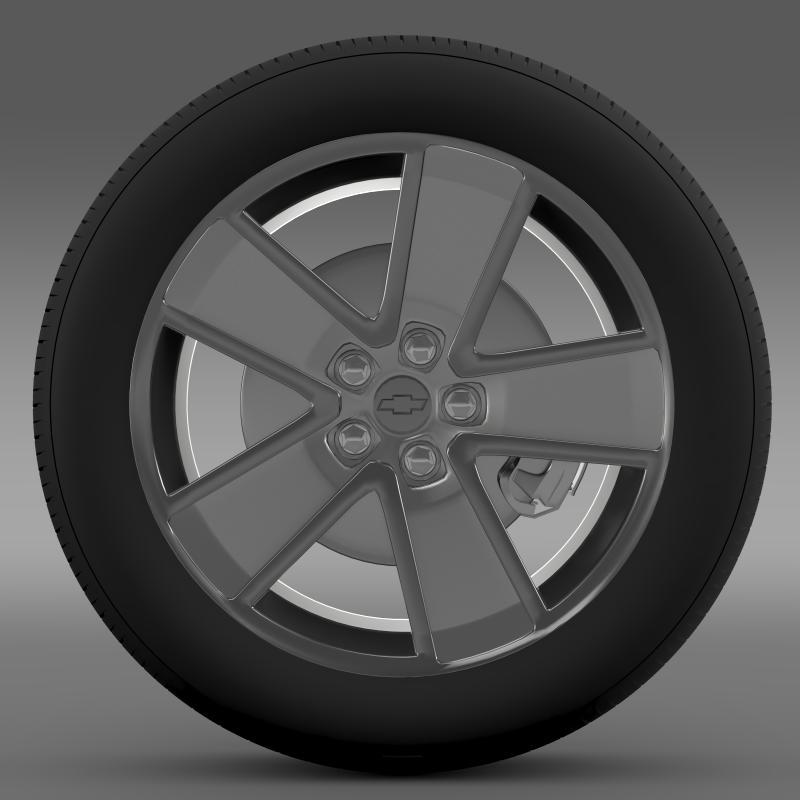 chevrolet camaro redflash 2010 wheel 3d model 3ds max fbx c4d lwo ma mb hrc xsi obj 141339