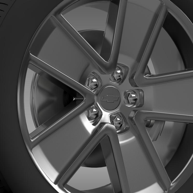 chevrolet camaro redflash 2010 wheel 3d model 3ds max fbx c4d lwo ma mb hrc xsi obj 141340