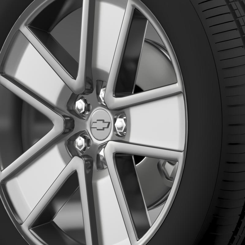 chevrolet camaro redflash 2010 wheel 3d model 3ds max fbx c4d lwo ma mb hrc xsi obj 141341