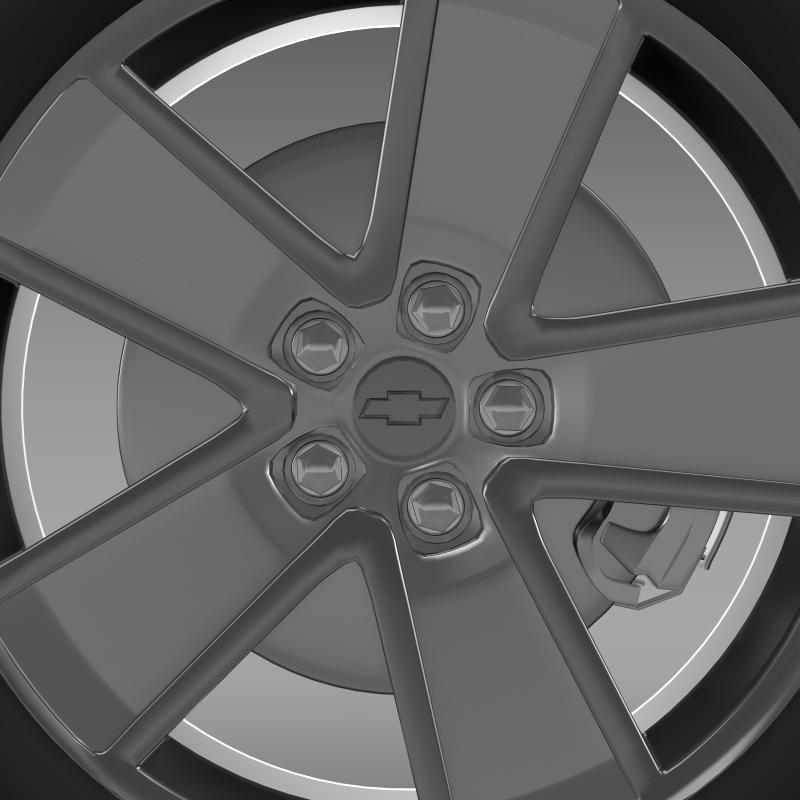 chevrolet camaro redflash 2010 wheel 3d model 3ds max fbx c4d lwo ma mb hrc xsi obj 141342