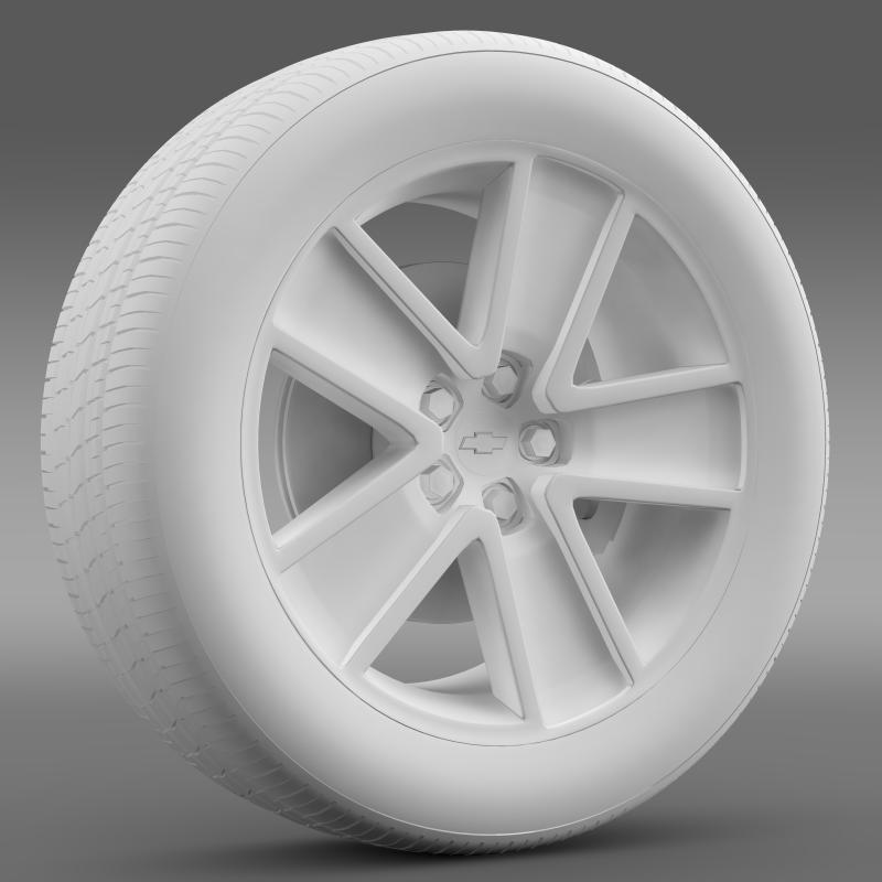 chevrolet camaro redflash 2010 wheel 3d model 3ds max fbx c4d lwo ma mb hrc xsi obj 141343