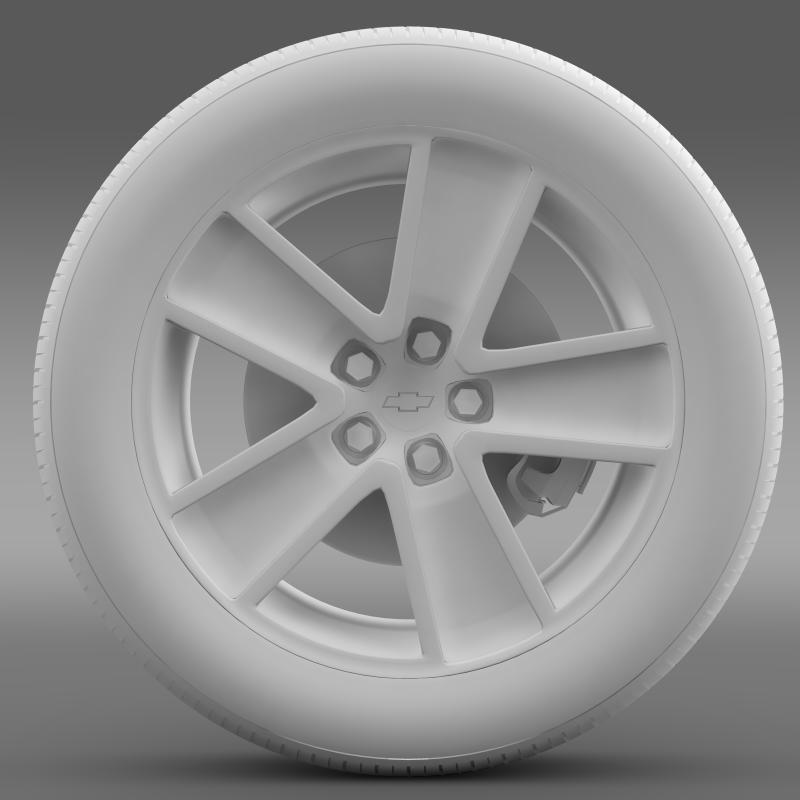 chevrolet camaro redflash 2010 wheel 3d model 3ds max fbx c4d lwo ma mb hrc xsi obj 141345