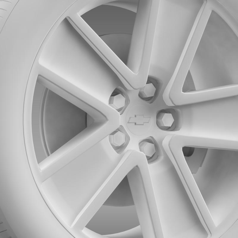 chevrolet camaro redflash 2010 wheel 3d model 3ds max fbx c4d lwo ma mb hrc xsi obj 141346
