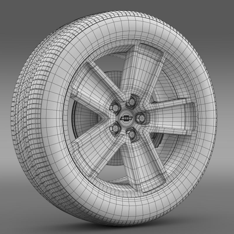 chevrolet camaro redflash 2010 wheel 3d model 3ds max fbx c4d lwo ma mb hrc xsi obj 141349