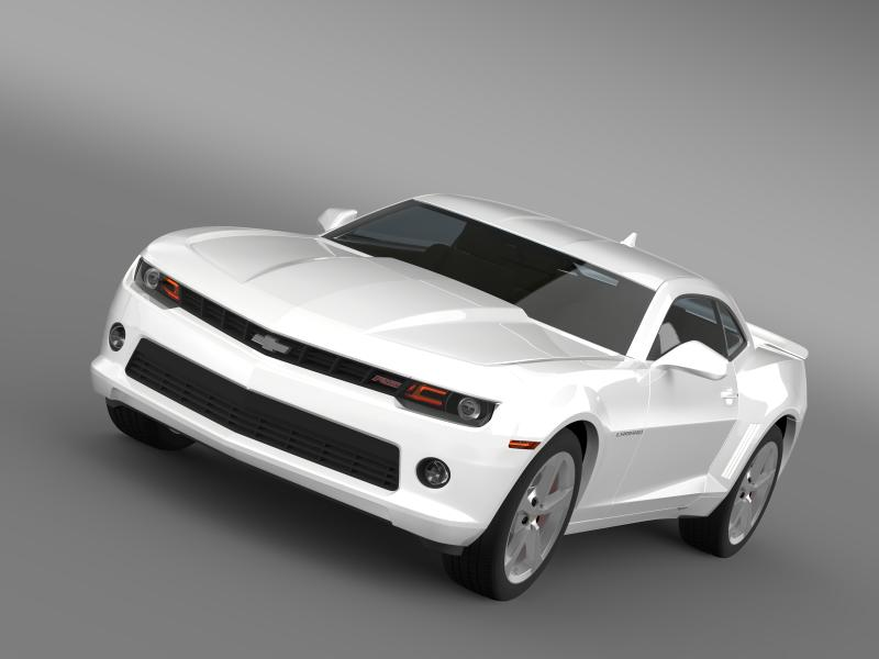 chevrolet camaro rs 2014 3d modell 3ds max.