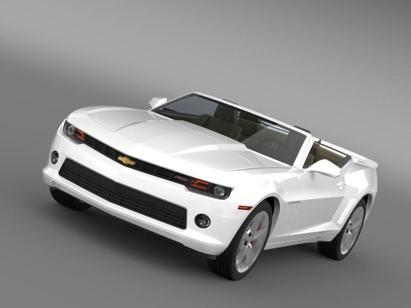 chevrolet camaro rs cabrio 2014 3d model 3ds max fbx c4d lwo ma mb hrc xsi obj 160974