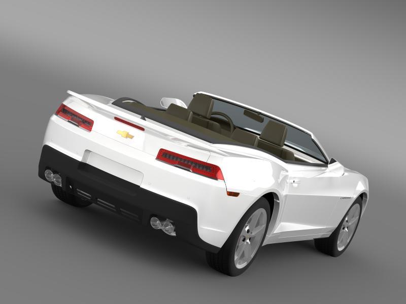 chevrolet camaro rs convertible 2014 3d model 3ds max fbx c4d lwo ma mb hrc xsi obj 160975