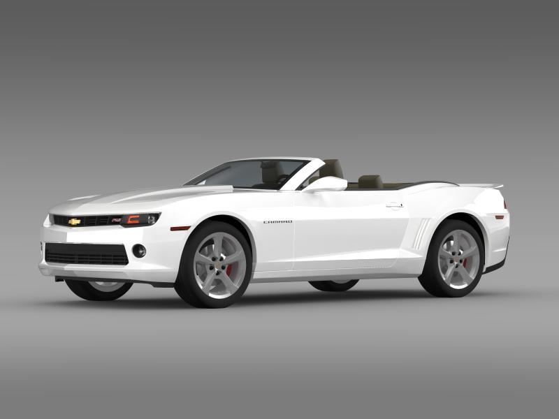 chevrolet camaro rs convertible 2014 3d model 3ds max fbx c4d lwo ma mb hrc xsi obj 160978