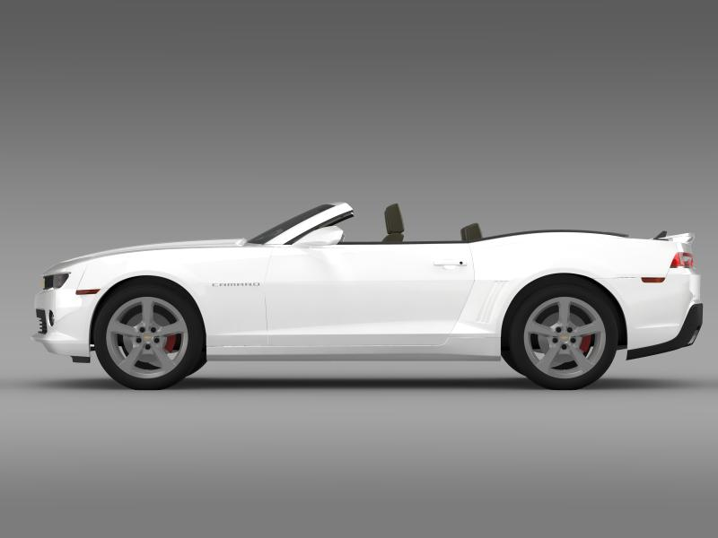 chevrolet camaro rs convertible 2014 3d model 3ds max fbx c4d lwo ma mb hrc xsi obj 160979