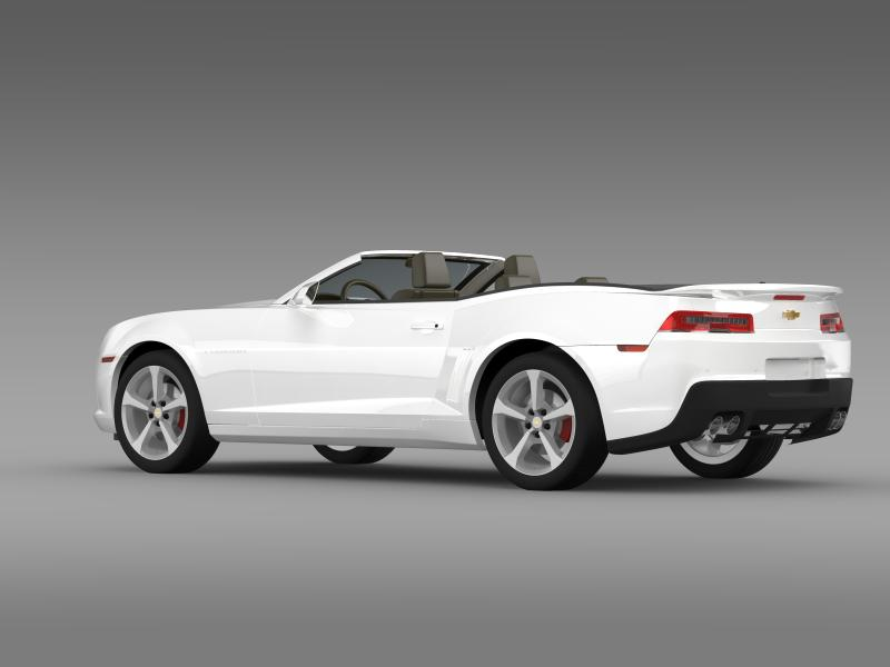 chevrolet camaro rs convertible 2014 3d model 3ds max fbx c4d lwo ma mb hrc xsi obj 160980