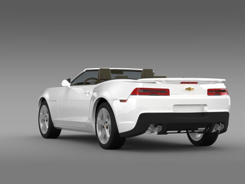 chevrolet camaro rs convertible 2014 3d model 3ds max fbx c4d lwo ma mb hrc xsi obj 160981