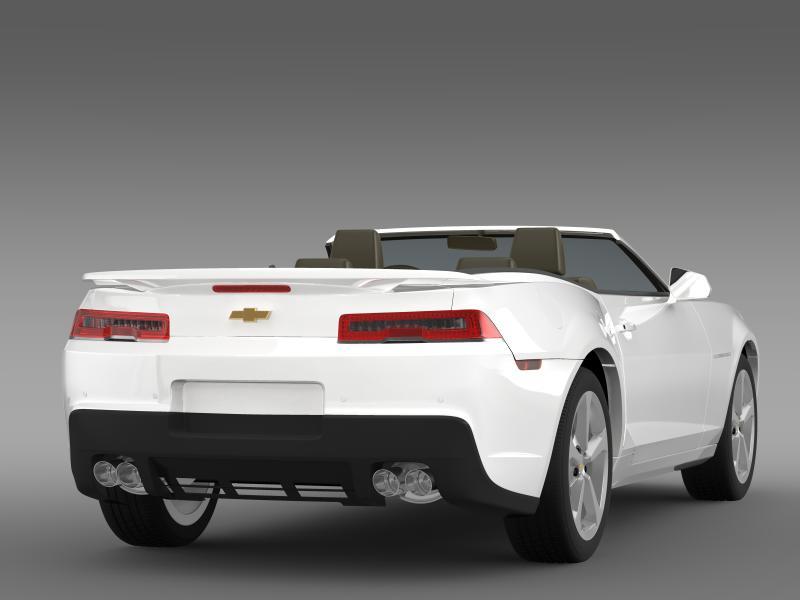 chevrolet camaro rs convertible 2014 3d model 3ds max fbx c4d lwo ma mb hrc xsi obj 160982