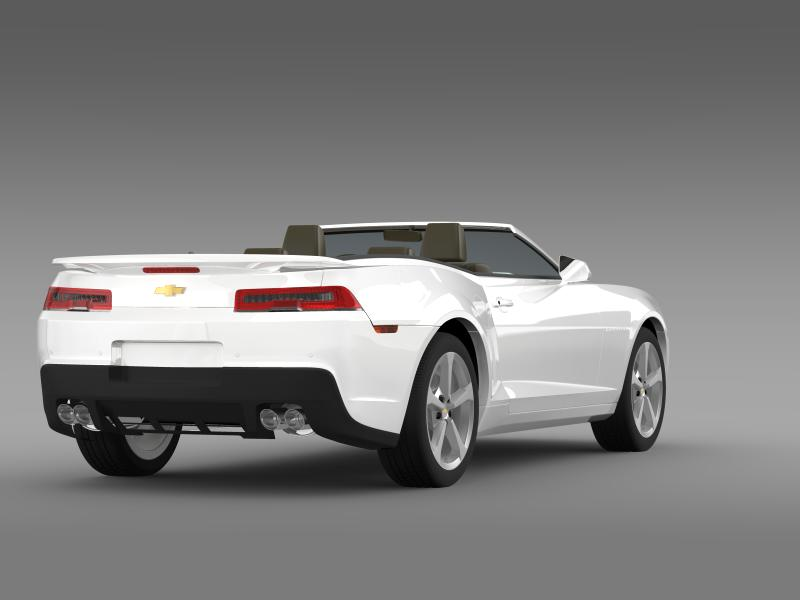 chevrolet camaro rs convertible 2014 3d model 3ds max fbx c4d lwo ma mb hrc xsi obj 160983