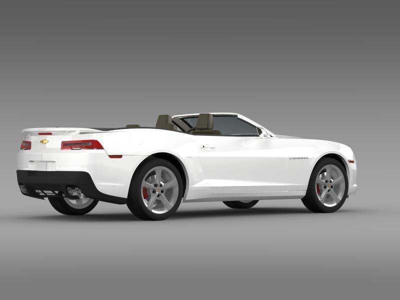 chevrolet camaro rs convertible 2014 3d model 3ds max fbx c4d lwo ma mb hrc xsi obj 160984