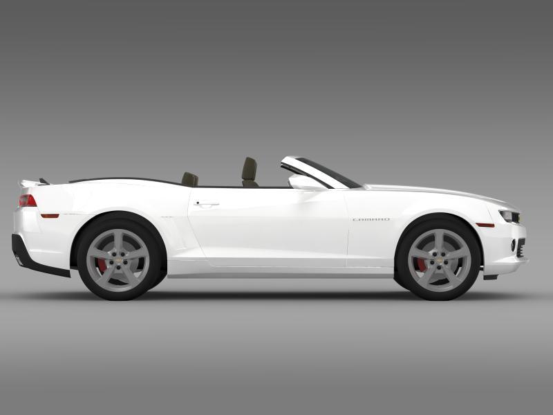 chevrolet camaro rs convertible 2014 3d model 3ds max fbx c4d lwo ma mb hrc xsi obj 160985