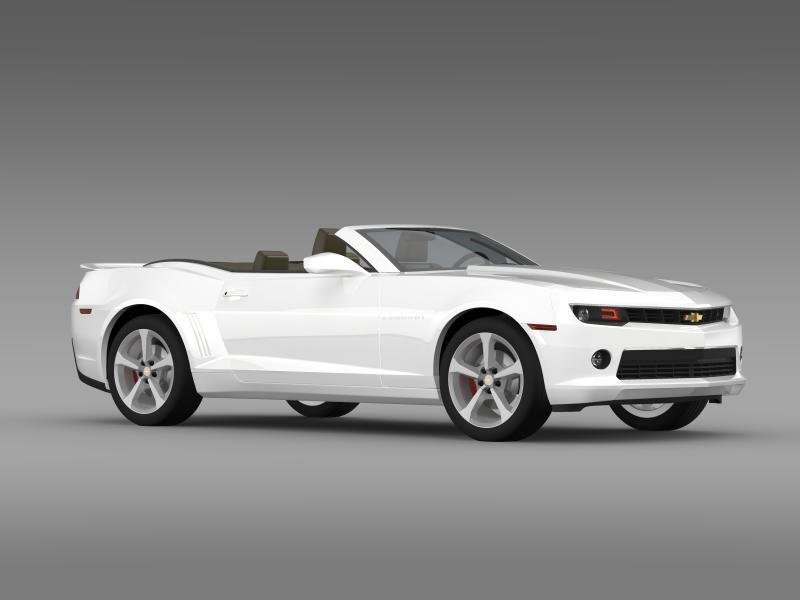chevrolet camaro rs convertible 2014 3d model 3ds max fbx c4d lwo ma mb hrc xsi obj 160986