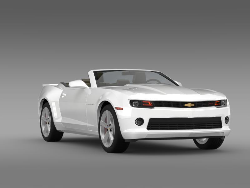 chevrolet camaro rs convertible 2014 3d model 3ds max fbx c4d lwo ma mb hrc xsi obj 160987