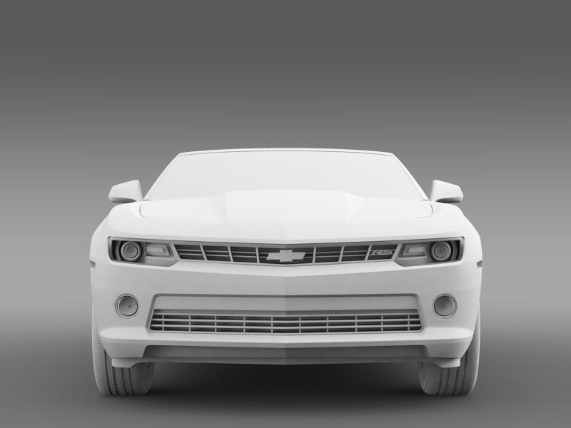 chevrolet camaro rs convertible 2014 3d model 3ds max fbx c4d lwo ma mb hrc xsi obj 160988