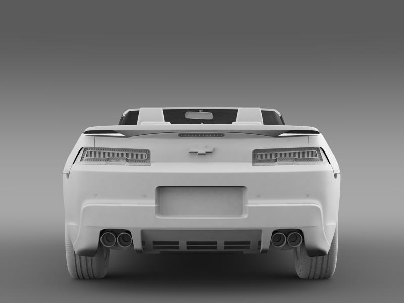 chevrolet camaro rs convertible 2014 3d model 3ds max fbx c4d lwo ma mb hrc xsi obj 160989