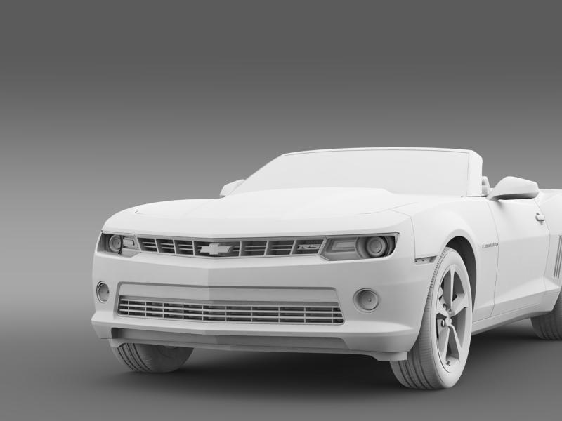 chevrolet camaro rs convertible 2014 3d model 3ds max fbx c4d lwo ma mb hrc xsi obj 160990